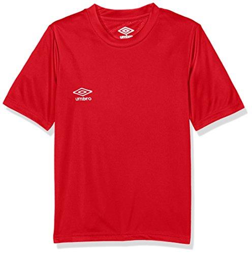 UMBRO Oblivion Jnr Camiseta de fútbol, niño, Rojo, 4 años
