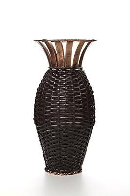 Hosley Iron Weave Vase