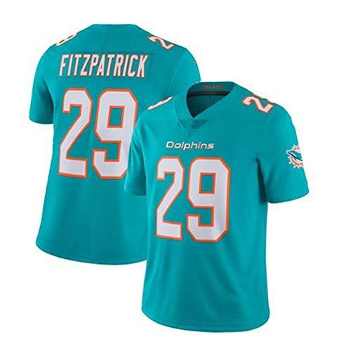 QAZX #29 Fitzpatrick Dolphins Herren Rugby Trikot Schnelltrocknend Shirt Trainings-T-Shirts Mesh Kurzarm Fitness Polyester Faser Sweatshirt (S-XXXL) Gr. XL, grün