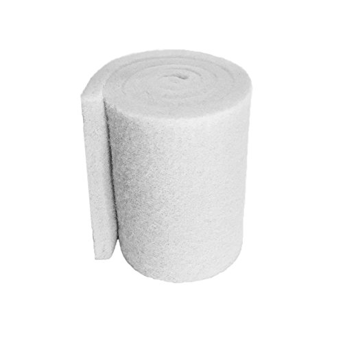 Aquatic Experts Classic Koi Pond Filter Pad FINE - White Bulk Roll Pond Filter Media, Ultra-Durable Fish Pond Filter Material USA (12 inches x 72 inches by 3/4 to 1 inch)