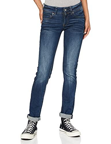 G-STAR RAW Damen Jeans Midge Mid Waist Straight, Dk Aged 6553-89, 22W / 26L