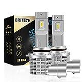 Briteye(まぶしい) HB4 LEDヘッドライト 車検対応 6500K 9006 LEDバルブ 車用 一体型 6500K ホワイト CREEチップ搭載 ファンレス (2個入)