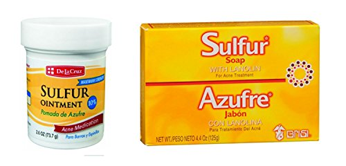 De La Cruz Sulfur Ointment and Sulfur Soap (Variety 2 Pack)