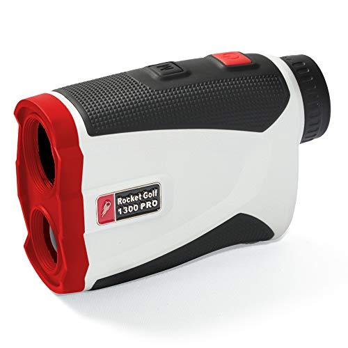 RocketGolf Golflaser.de - Golf Laser Entfernungsmesser Birdie 1300 Pro Slope White - FlagFinder - 1300m Reichweite - Wasserabweisend - Rangefinder