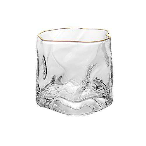 Juego de copas de vino creativas 2 piezas de 250 ml de vidrio transparente taza de vino Latte café whisky vidrio vodka molde de hielo vidrio beber vidrio