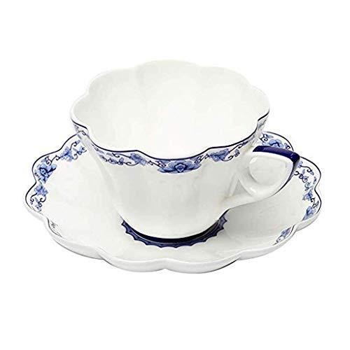 XXDTG Taza de cerámica del café y platillo Set sin Plomo no tóxico Resistente al Desgaste del Ministerio del Interior de la Cocina (Color : A)