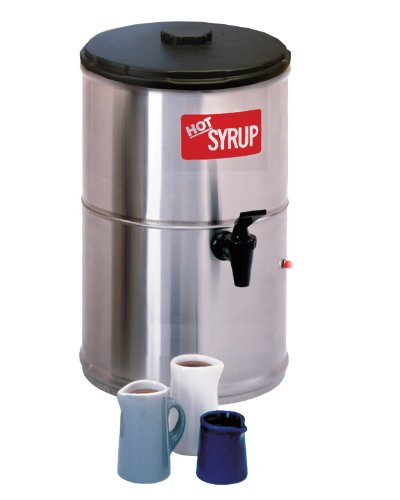 Wilbur Curtis Syrup Warmer 2.0 Gallon Syrup Container – Stainless Steel and Temperature Controls – SW-2 (Each)