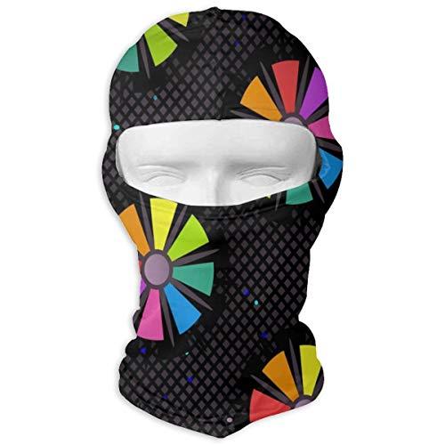 Sitear Geometrische Kleurrijke Pleinen Rhombus Driehoeken Full Face Masker Hood Neck Warm Voor Mannen En Vrouwen Outdoor Sport Windproof Zonnescherm Aangepast