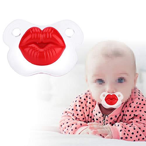 Baby Schnuller, Lustiger Baby Schnuller im Fußball Stil, Babynuckel, Weiche Silikon Schnuller Für Kleinkinder Neugeboren-Scharlachrot, Weihnachtsgeschenk