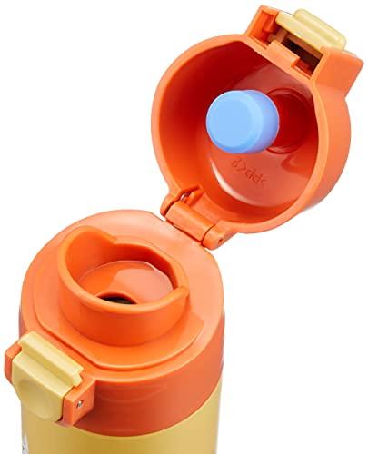 ワンプッシュでフタが簡単に開けられて、飲みたい時に飲み物がサッと飲めるステンレスボトル。飲む時にキャップが倒れるのを防ぐキャップロック設計。誤作動でキャップの開閉を防ぐロック機能付きで、持ち運びにも安心です。