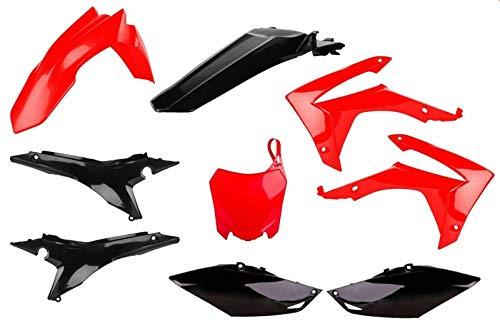 Motodak Kit Plastiques POLISPORT Rouge/Noir Honda CRF250/450R