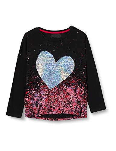 Desigual TS_Coventry Camiseta, Black, 5/6 para Niñas