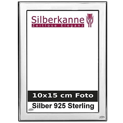 Bilderrahmen Silber 925 Sterling München für 10x15 cm Foto mit Holzrücken in Top Verarbeitung