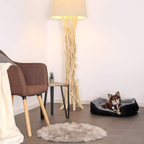 lionto by dibea Cama perros cojín perros cesta perros con cojín tamaño (M) 60x48 cm gris/negro