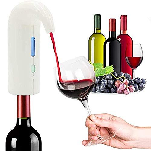 PDXGZ Decanter per Vini Bianchi e Rossi, Multifunzione Ricaricabile USB, per Casa, Festa, Un'operazione Chiave, Facile da trasportare,Bianca