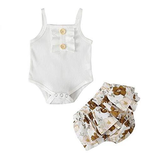 AYIYO Zestaw spódnicy dla niemowląt dla dziewczynek bez rękawów bez rękawów podwiązana góra falbanki kwitnące spódnice letnie ubrania