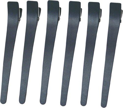 Eurostil Abteilklammern Abteil Clip Klammern 6 Stück schwarz Kunststoff