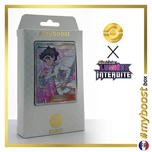 Dianthéa 130/131 Dresseur Full Art - #myboost X Soleil & Lune 6 Lumière Interdite - Coffret de 10 Cartes Pokémon Françaises