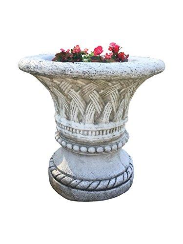 Antikes Wohndesign 1 x Runder Blumenkübel Pflanzkübel Blumentopf Amphore Pflanzschale Steinmöbel H:73cm G: 189KG