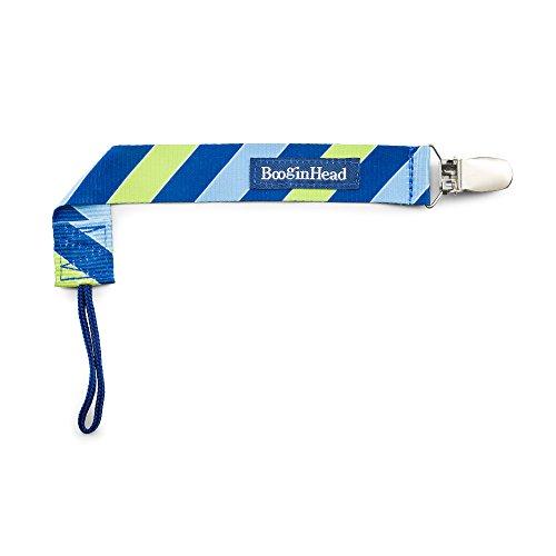 BooginHead Baby Newborn PaciGrip Pacifier Clip, Leap Blue/Green