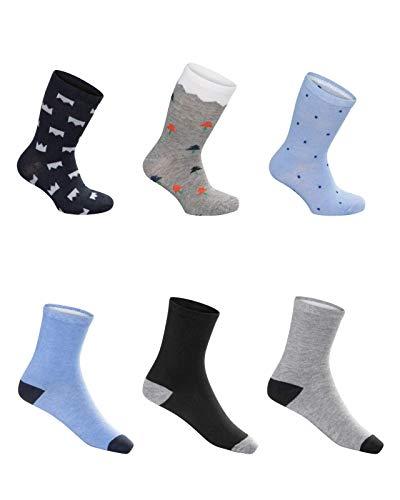 SG-WEAR 12 pares de calcetines para niños para Chico con un alto contenido de algodón Calcetines de deporte coloridos en varios motivos/medias en tallas 23-26, 27-30, 31-34, 35-38 / (Motiv 1, 35-38)