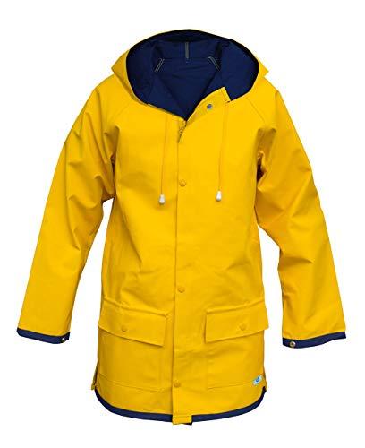 MADSea Damen Herren Friesennerz Regenjacke gelb wasserabweisend, Größe:Damen 38 = Herren 44