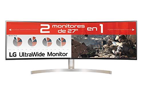 """LG 49WL95C-W - Monitor Profesional de 49"""" DualQHD (5120x1440, IPS, 32:9, DisplayPort x1, HDMI x2, USB x4, Ultrawide, 60 Hz, 5ms) Blanco"""