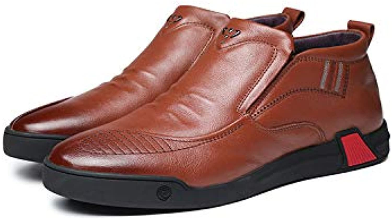 LOVDRAM Men'S Leather shoes, Cotton shoes, Fashion shoes, Men'S Casual shoes, Business, Non-Slip Work, Wearable