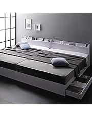 ベッド 収納付き 引き出し付き 木製 棚付き 宮付き コンセント付き シンプル モダン 『Absol』 アブソル