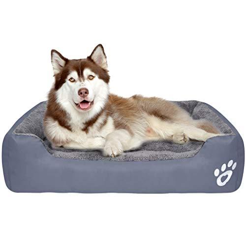 Wenosda Pet Bed Canile Tondo Cuccia per Gatti Cuccia Cuccia Sacco a Pelo Profondo Quattro Stagioni di Cuccioli Morbido Cuscino Fossa per Gatti Cani di Piccola e Media Taglia (Grigio, M)