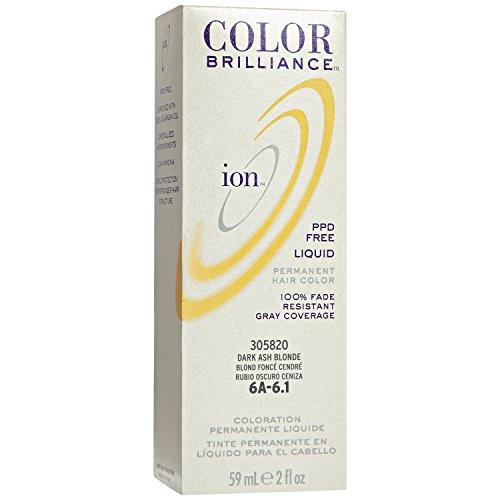 6A Dark Ash Blonde Permanent Liquid Hair Color by Ion
