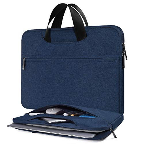 15.6 Inch Waterproof Laptop Sleeve Bag Men Women Briefcase for Acer Aspire E15/Predator, Lenovo Yoga 720/730 15.6, HP Envy x360/OMEN/Pavilion 15, Macbook Pro 16, MSI ASUS Dell Inspiron Case, Navy Blue