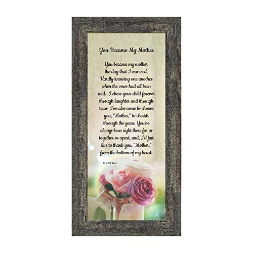 Crossroads Home Décor Mother in Law Gifts from Daughter in Law, Mother of The Groom Gifts from Bride, Birthday Gifts for Mother in Law, Gifts for Inlaws, Future Mother-in-Law Framed Poem 7346BW