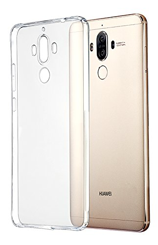 Tektide Case Compatible for Huawei Mate 9, [Invisible Armor] 0.4 mm Ultra Slim, Transparent Clear Soft Flexible Shock-Absorbing TPU Phone Case Bumper Back Cover Improve Grip