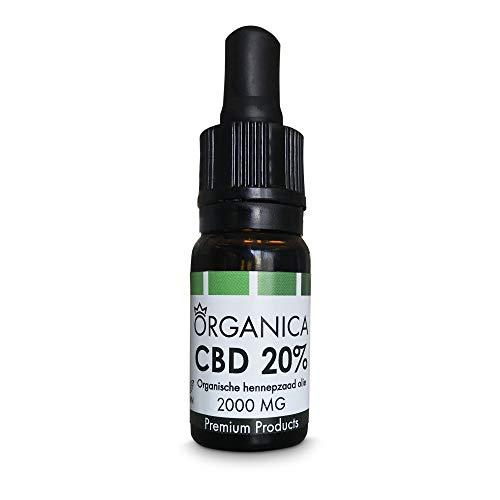 Organica CBD Olie 20 procent - 2000mg CBD - 10ml
