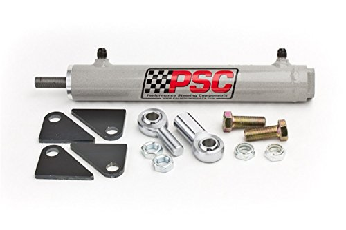 PSC Motor Sports SC2200K Power Steering Assist Cylinder 1.5 Bore x 8 Stroke x .625 Rod w/Rod Ends And Mount Hardware Power Steering Assist Cylinder