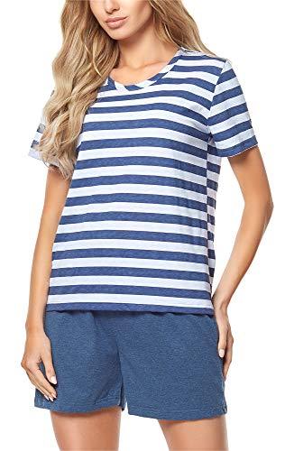 Merry Style Damen Schlafanzug MS10-177 (Jeans/Hellblau, XXL)