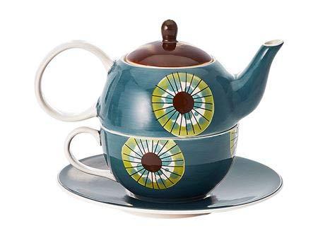 Cha Cult Tea for one Set Cora Keramik, 4-teilig Kanne: 0,4 l, Tasse: 0,2 l