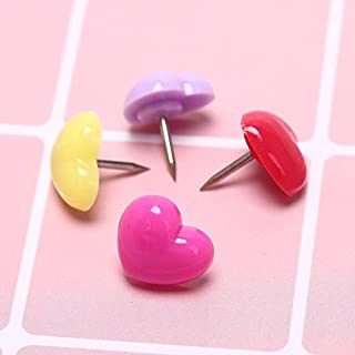 Party Diy Decorations - 2019 Fashion 12pcs Plastic Heart Cork Board Safety Colored Push Pins Decorative Party Thumbtack - Party Decorations Party Decorations Safety Thumbtack Halloween Ring