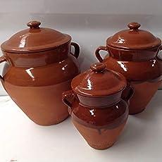 Botijo de barro alto 30 x 20 cm 3 litros aprox.: Amazon.es: Handmade