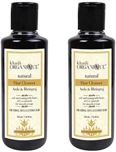Glamorous Hub Khadi Organique Amla & Bhringraj Hair Cleanser (champú) paquete de 2 (el paquete puede variar)