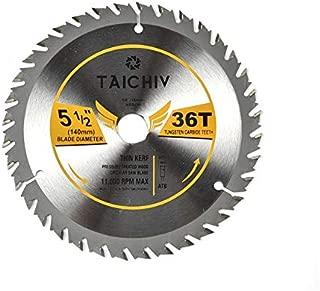 TAICHIV 5-1/2-Inch 36 Tooth ATB Carbide Framing Saw Blades with 5/8-Inch Arbor Circular Saw Blades for Wood Cutting