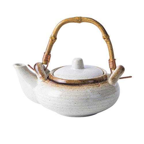 UPKOCH Teekessel Pfeifen Teekanne mit Bambusgriff Tragbarer Teekesselbehälter für zu Hause
