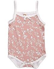 الرضع بروتيل الأزهار طباعة القوس الديكور أسفل مشبك رومبير طفل الفتيات الصيف بارد الدانتيل بذلة (Color : Pink, Kid Size : 6M)