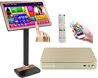 22'' Touch Screen Karaoke Player,8TB HDD 161K Chinese,English Songs. Free Cloud Download, Mobile Device And the Monitor Select Songs.