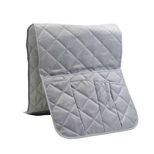 Xhwykzz Soporte de mando a distancia para sofá con 5 bolsillos para sillón, organizador para teléfono inteligente, libro, revistas, iPad (gris)