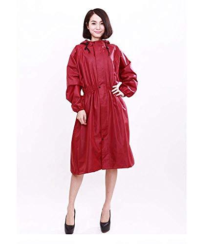 Guyuan Mittlerer Langer wasserdichter und wetterfester Kleidungs-Frauen-hochwertiger Doppelschicht Breathable Regenmantel-Neuer Art und Weise Erwachsener einteiliger Regenmantel