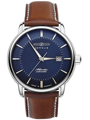 Zeppelin Herrenuhr Automatik Atlantic Swiss Lederband braun 8452-3