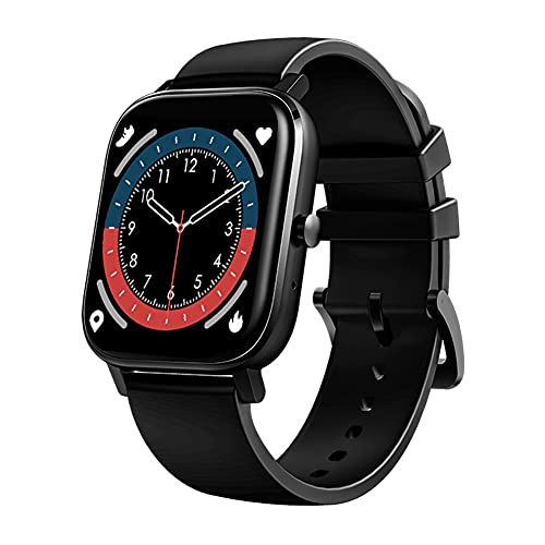 ZOZIZZ Sports Smart Watch, Presión Arterial Detector de Ritmo cardíaco Toque Fitness Fitness Fitness Push Mensaje IP68 Rastreador Impermeable, B