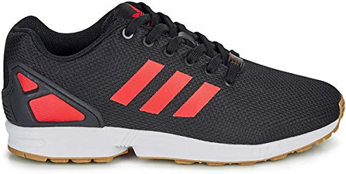 adidas Mens ZX Flux Sneaker, Core Black/Hi-Res Red/Footwear White, 42 2/3 EU